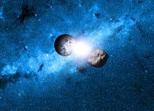 背景地球充分的行星星形 库存照片
