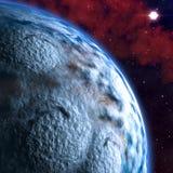 背景地球充分的行星星形 皇族释放例证