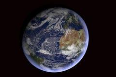 背景地球充分的行星星形 图库摄影