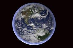 背景地球充分的行星星形 免版税库存照片