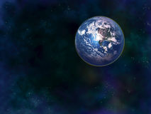 背景地球充分的行星星形 库存图片