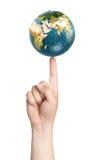 背景地球充分的行星星形 免版税库存图片