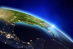 背景地球充分的行星星形 3d翻译 免版税图库摄影