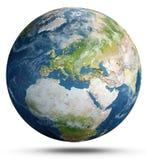 背景地球充分的行星星形 3d翻译 免版税库存照片