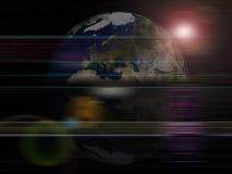 背景地球全球行星系列 库存例证