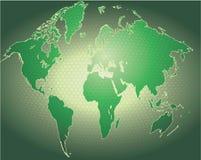 背景地球地球映射字 向量例证