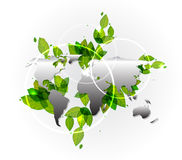 背景地球映射概述向量 免版税库存照片