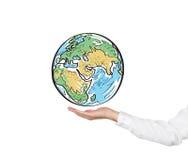 背景地球现有量藏品查出的白色 免版税库存图片