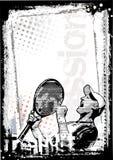 背景坏的网球 库存图片