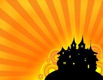 背景城堡万圣节 向量例证