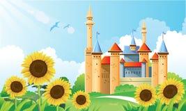 背景城堡夏天 免版税库存照片