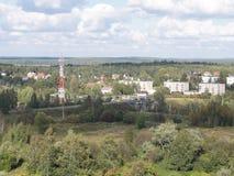 背景城市横向自然全景 免版税库存图片