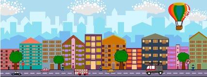 背景城市设计您地平线的向量 库存例证