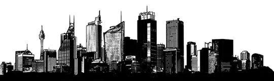 背景城市设计您地平线的向量 库存图片