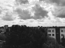 背景城市黑暗的grundge向量 库存照片