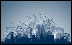 背景城市grunge 免版税库存照片