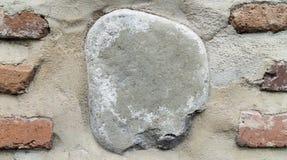 背景墙壁石头砖、墙壁有大石头的和砖纹理设计背景 免版税图库摄影