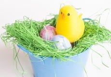 背景复活节彩蛋设置了三 库存图片