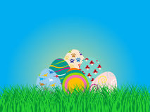 背景复活节彩蛋设置了三 免版税库存照片