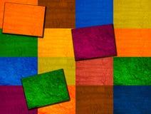 背景多彩多姿的正方形 库存照片