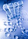 背景多维数据集冰 库存图片