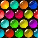 背景多色球的玻璃 免版税库存图片