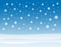 背景多雪的冬天 免版税库存照片