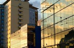 背景大厦城市 免版税库存图片
