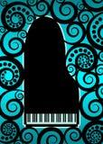 背景大平台钢琴 免版税库存图片