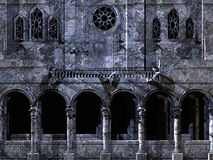 背景大教堂 免版税库存照片