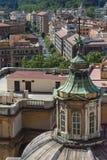 背景大教堂bernini城市喷泉彼得・罗马s方形st梵蒂冈 库存图片