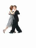 背景夫妇跳舞探戈空白年轻人 免版税库存图片