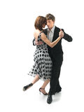 背景夫妇跳舞探戈空白年轻人 免版税图库摄影