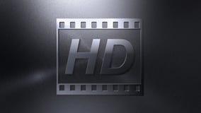 背景定义高录影 库存例证