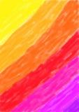 背景对紫色的水彩黄色 免版税图库摄影