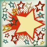 背景展开星形向量 免版税图库摄影