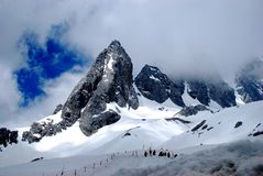 背景山好的雪墙纸 免版税图库摄影