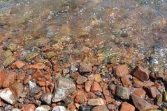 背景山自然河石头 免版税库存照片