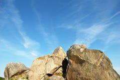 背景岩石天空 库存图片