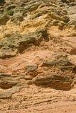 背景峭壁表面砂岩 库存图片