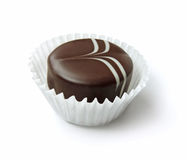 背景巧克力例证块菌包裹 库存照片