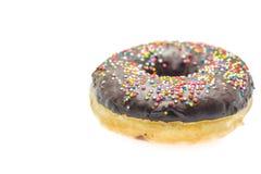 背景巧克力多福饼查出的白色 免版税库存图片