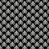 背景巴洛克式的黑色模式纹理whi 图库摄影