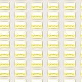 背景带信封无缝黄色的信件 库存图片