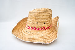 背景帽子白色 库存照片