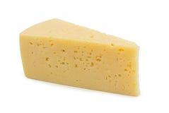 背景干酪查出的白色 免版税库存图片