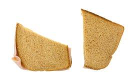 背景干酪火腿三明治白色 库存照片