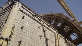背景建筑挖掘机查出的机械对象白色 股票视频
