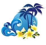 背景开花热带的夏天 库存图片