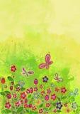 背景开花的樱桃接近的花卉日本春天结构树 额嘴装饰飞行例证图象其纸部分燕子水彩 免版税库存照片
